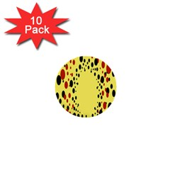 Gradients Dalmations Black Orange Yellow 1  Mini Buttons (10 Pack)  by Alisyart