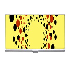 Gradients Dalmations Black Orange Yellow Business Card Holders by Alisyart