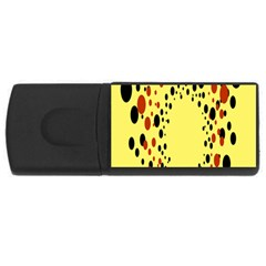 Gradients Dalmations Black Orange Yellow Usb Flash Drive Rectangular (4 Gb) by Alisyart