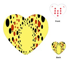 Gradients Dalmations Black Orange Yellow Playing Cards (heart)  by Alisyart