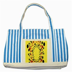 Gradients Dalmations Black Orange Yellow Striped Blue Tote Bag by Alisyart