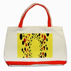 Gradients Dalmations Black Orange Yellow Classic Tote Bag (red)