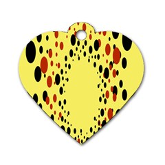 Gradients Dalmations Black Orange Yellow Dog Tag Heart (two Sides)