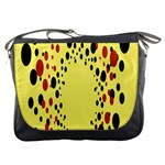 Gradients Dalmations Black Orange Yellow Messenger Bags Front