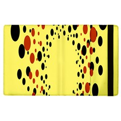 Gradients Dalmations Black Orange Yellow Apple Ipad 3/4 Flip Case by Alisyart
