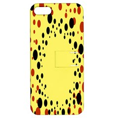 Gradients Dalmations Black Orange Yellow Apple Iphone 5 Hardshell Case With Stand