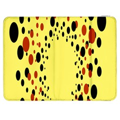 Gradients Dalmations Black Orange Yellow Samsung Galaxy Tab 7  P1000 Flip Case