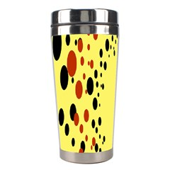 Gradients Dalmations Black Orange Yellow Stainless Steel Travel Tumblers