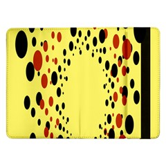 Gradients Dalmations Black Orange Yellow Samsung Galaxy Tab Pro 12 2  Flip Case by Alisyart