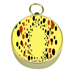 Gradients Dalmations Black Orange Yellow Gold Compasses by Alisyart