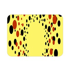 Gradients Dalmations Black Orange Yellow Double Sided Flano Blanket (mini)  by Alisyart