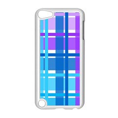 Gingham Pattern Blue Purple Shades Sheath Apple Ipod Touch 5 Case (white)