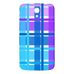 Gingham Pattern Blue Purple Shades Sheath Samsung Galaxy Mega I9200 Hardshell Back Case by Alisyart