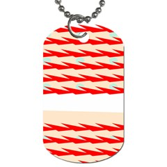 Chevron Wave Triangle Red White Circle Blue Dog Tag (two Sides) by Alisyart