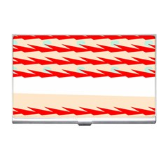 Chevron Wave Triangle Red White Circle Blue Business Card Holders by Alisyart