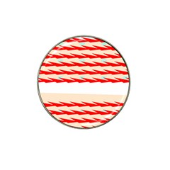 Chevron Wave Triangle Red White Circle Blue Hat Clip Ball Marker (4 Pack) by Alisyart