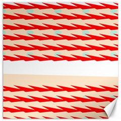 Chevron Wave Triangle Red White Circle Blue Canvas 16  X 16