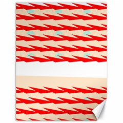 Chevron Wave Triangle Red White Circle Blue Canvas 18  X 24   by Alisyart