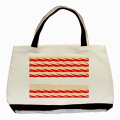 Chevron Wave Triangle Red White Circle Blue Basic Tote Bag (two Sides) by Alisyart
