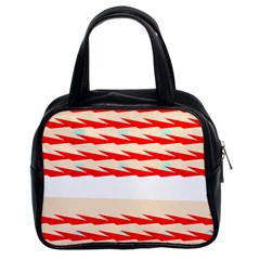 Chevron Wave Triangle Red White Circle Blue Classic Handbags (2 Sides) by Alisyart