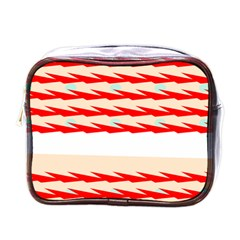 Chevron Wave Triangle Red White Circle Blue Mini Toiletries Bags by Alisyart