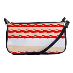 Chevron Wave Triangle Red White Circle Blue Shoulder Clutch Bags by Alisyart