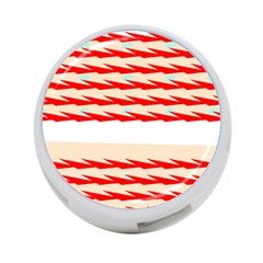 Chevron Wave Triangle Red White Circle Blue 4 Port Usb Hub (one Side) by Alisyart