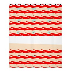 Chevron Wave Triangle Red White Circle Blue Shower Curtain 60  X 72  (medium)  by Alisyart