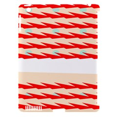 Chevron Wave Triangle Red White Circle Blue Apple Ipad 3/4 Hardshell Case (compatible With Smart Cover)