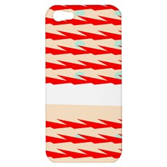 Chevron Wave Triangle Red White Circle Blue Apple Iphone 5 Hardshell Case by Alisyart