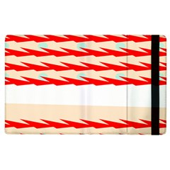 Chevron Wave Triangle Red White Circle Blue Apple Ipad 3/4 Flip Case by Alisyart