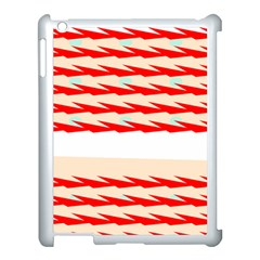 Chevron Wave Triangle Red White Circle Blue Apple Ipad 3/4 Case (white)