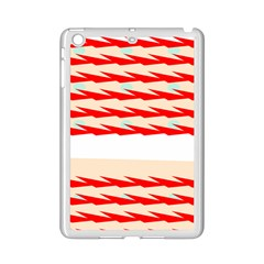 Chevron Wave Triangle Red White Circle Blue Ipad Mini 2 Enamel Coated Cases