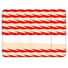 Chevron Wave Triangle Red White Circle Blue Samsung Galaxy Tab 7  P1000 Flip Case by Alisyart