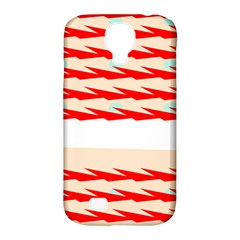 Chevron Wave Triangle Red White Circle Blue Samsung Galaxy S4 Classic Hardshell Case (pc+silicone) by Alisyart