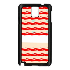 Chevron Wave Triangle Red White Circle Blue Samsung Galaxy Note 3 N9005 Case (black) by Alisyart