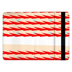 Chevron Wave Triangle Red White Circle Blue Samsung Galaxy Tab Pro 12 2  Flip Case by Alisyart