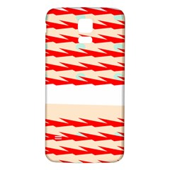 Chevron Wave Triangle Red White Circle Blue Samsung Galaxy S5 Back Case (white) by Alisyart