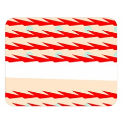 Chevron Wave Triangle Red White Circle Blue Double Sided Flano Blanket (large)  by Alisyart