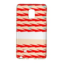 Chevron Wave Triangle Red White Circle Blue Galaxy Note Edge