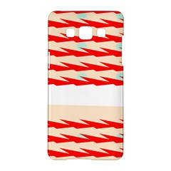 Chevron Wave Triangle Red White Circle Blue Samsung Galaxy A5 Hardshell Case  by Alisyart