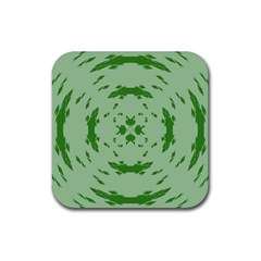 Green Hole Rubber Square Coaster (4 Pack)  by Alisyart