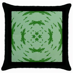 Green Hole Throw Pillow Case (black) by Alisyart