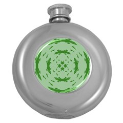 Green Hole Round Hip Flask (5 Oz) by Alisyart