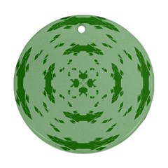 Green Hole Round Ornament (two Sides) by Alisyart