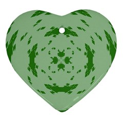 Green Hole Heart Ornament (two Sides)