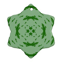 Green Hole Snowflake Ornament (two Sides) by Alisyart