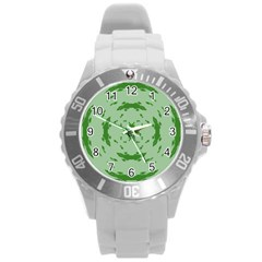 Green Hole Round Plastic Sport Watch (l) by Alisyart