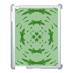 Green Hole Apple Ipad 3/4 Case (white)