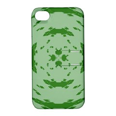 Green Hole Apple Iphone 4/4s Hardshell Case With Stand by Alisyart